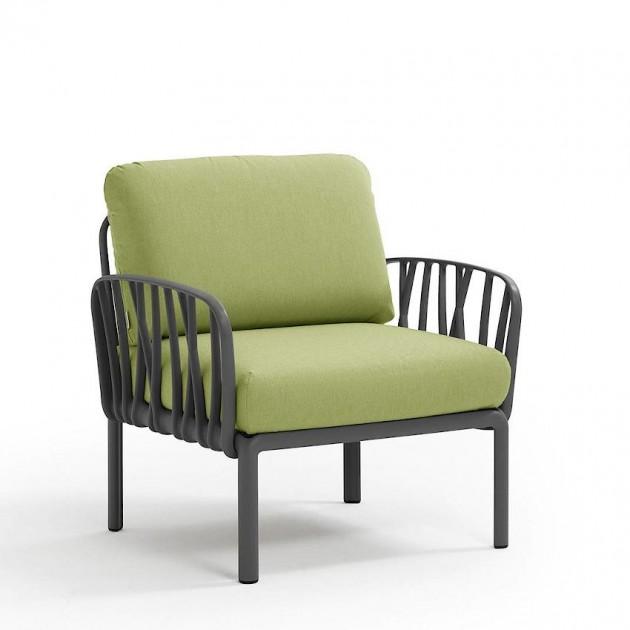 На фото: Модульне крісло Komodo Poltrona Antracite Avocado Sunbrella® (40371.02.139), Вуличне крісло Komodo Poltrona Nardi, каталог, ціна