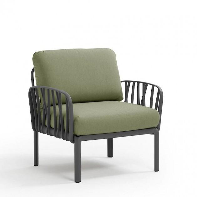 На фото: Модульне крісло Komodo Poltrona Antracite Giungla Sunbrella® (40371.02.140), Вуличне крісло Komodo Poltrona Nardi, каталог, ціна