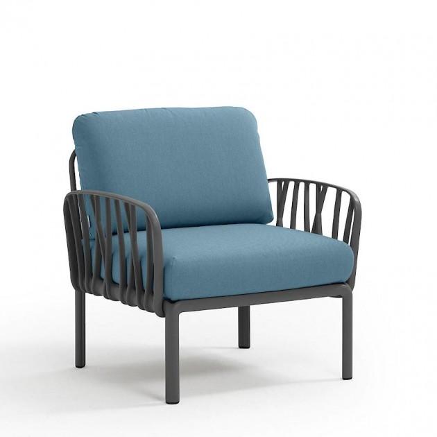 На фото: Модульне крісло Komodo Poltrona Antracite Adriatic Sunbrella® (40371.02.142), Вуличне крісло Komodo Poltrona Nardi, каталог, ціна
