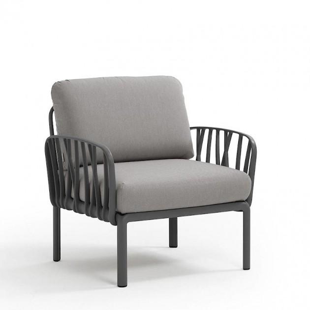 На фото: Модульне крісло Komodo Poltrona Antracite Grigio (40371.02.163), Лаунж крісла Nardi, каталог, ціна