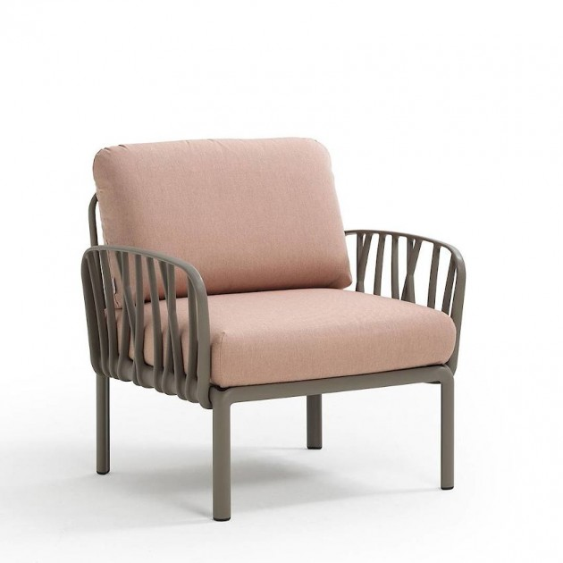 На фото: Модульне крісло Komodo Poltrona Tortora Rosa Quarzo (40371.10.066), Вуличне крісло Komodo Poltrona Nardi, каталог, ціна