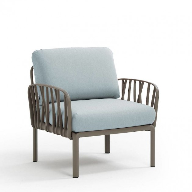 На фото: Модульне крісло Komodo Poltrona Tortora Ghiaccio Sunbrella® (40371.10.138), Вуличне крісло Komodo Poltrona Nardi, каталог, ціна