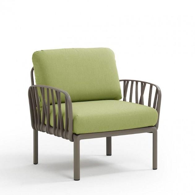 На фото: Модульне крісло Komodo Poltrona Tortora Avocado Sunbrella® (40371.10.139), Вуличне крісло Komodo Poltrona Nardi, каталог, ціна