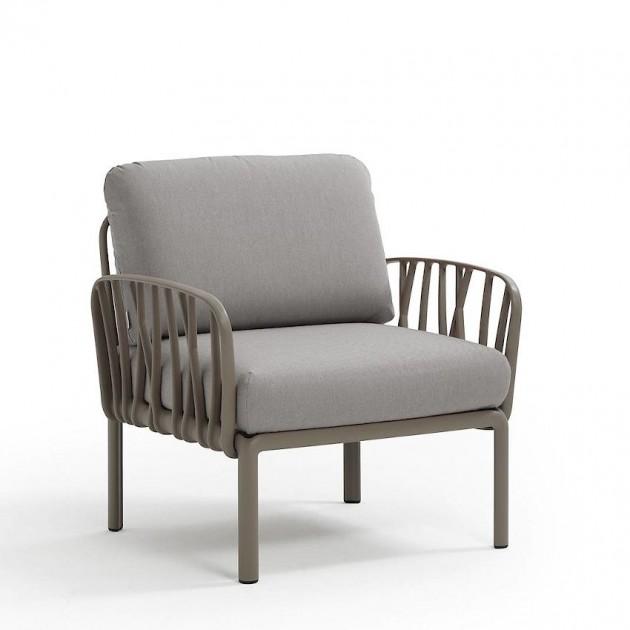 На фото: Модульне крісло Komodo Poltrona Tortora Grigio (40371.10.163), Широкі крісла Nardi, каталог, ціна