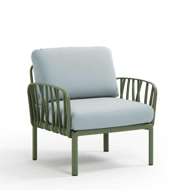 На фото: Модульне крісло Komodo Poltrona Agave Ghiaccio Sunbrella® (40371.16.138), Вуличне крісло Komodo Poltrona Nardi, каталог, ціна