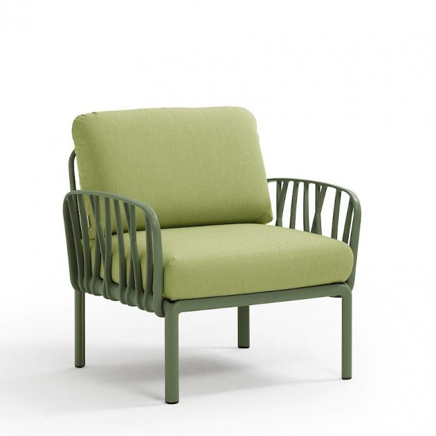 На фото: Модульне крісло Komodo Poltrona Agave Avocado Sunbrella® (40371.16.139), Вуличне крісло Komodo Poltrona Nardi, каталог, ціна