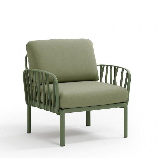 На фото: Модульне крісло Komodo Poltrona Agave Giungla Sunbrella® (40371.16.140), Вуличне крісло Komodo Poltrona Nardi, каталог, ціна