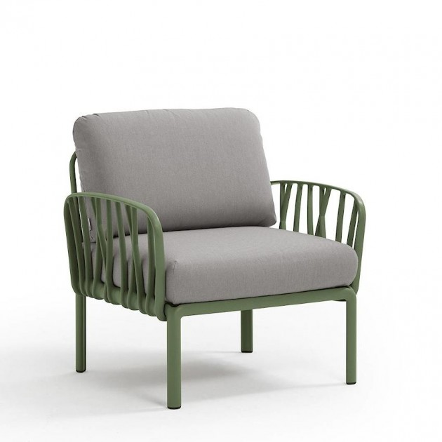 На фото: Модульне крісло Komodo Poltrona Agave Grigio (40371.16.163), Широкі крісла Nardi, каталог, ціна