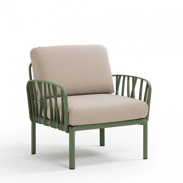 На фото: Модульне крісло Komodo Poltrona Agave Canvas Sunbrella® laminato (40371.16.170), Вуличне крісло Komodo Poltrona Nardi, каталог, ціна