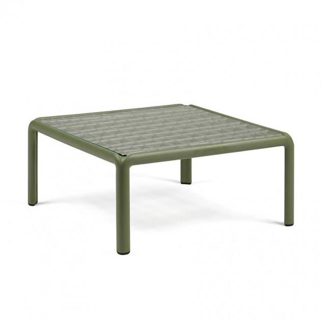 На фото: Столик Komodo Tavolino Vetro Agave (40368.16.501), Пластикові столи Nardi, каталог, ціна