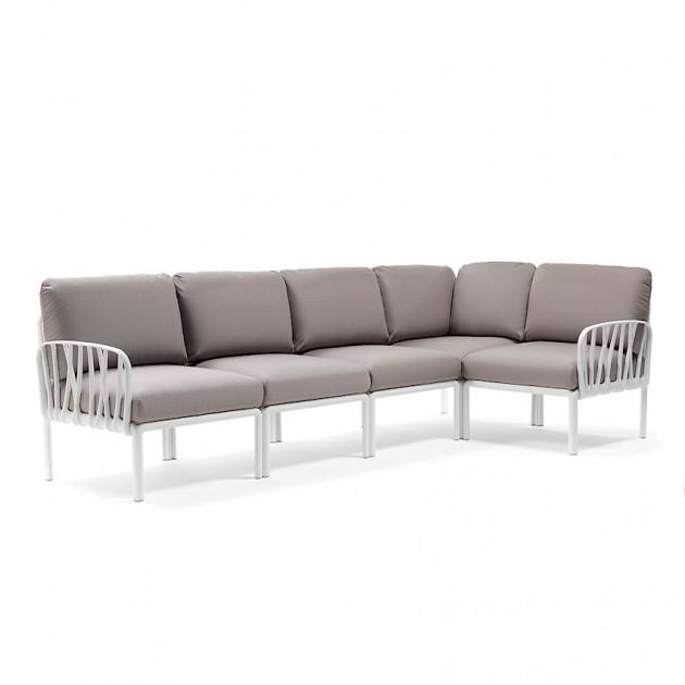 На фото: Модульний диван Komodo 5 Bianco Grigio (40370.00.163), Диванні комплекти з пластику Nardi, каталог, ціна
