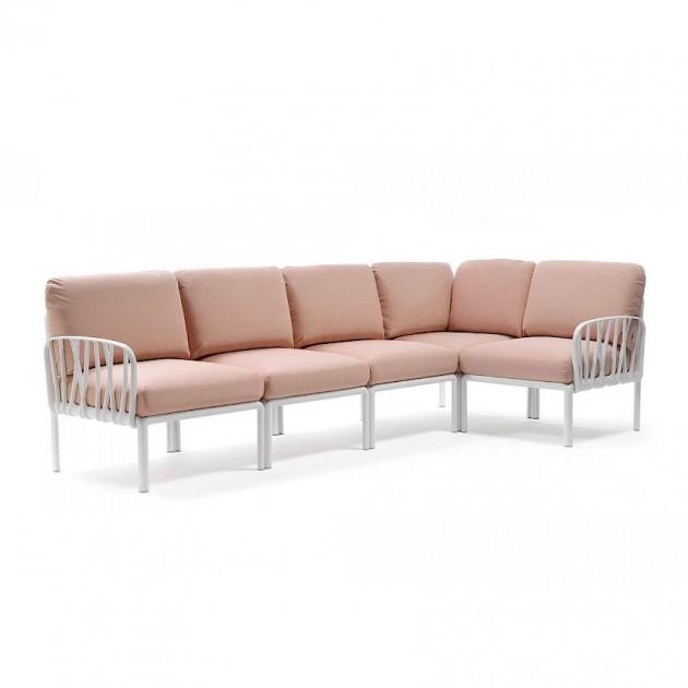 На фото: Модульний диван Komodo 5 Bianco Rosa Quarzo (40370.00.066), Модульні елементи Nardi, каталог, ціна
