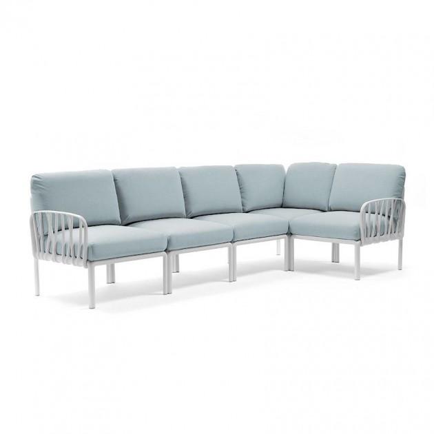 На фото: Модульний диван Komodo 5 Bianco Ghiaccio Sunbrella® (40370.00.138), Модульний диван Komodo 5 Nardi, каталог, ціна