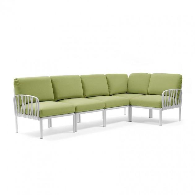 На фото: Модульний диван Komodo 5 Bianco Avocado Sunbrella® (40370.00.139), Модульний диван Komodo 5 Nardi, каталог, ціна