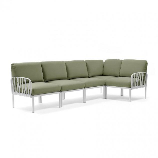 На фото: Модульний диван Komodo 5 Bianco Giungla Sunbrella® (40370.00.140), Модульний диван Komodo 5 Nardi, каталог, ціна