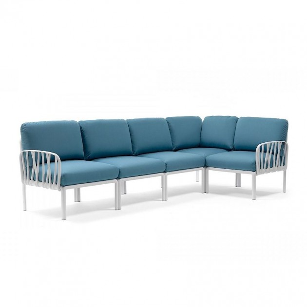 На фото: Модульний диван Komodo 5 Bianco Adriatic Sunbrella® (40370.00.142), Модульний диван Komodo 5 Nardi, каталог, ціна