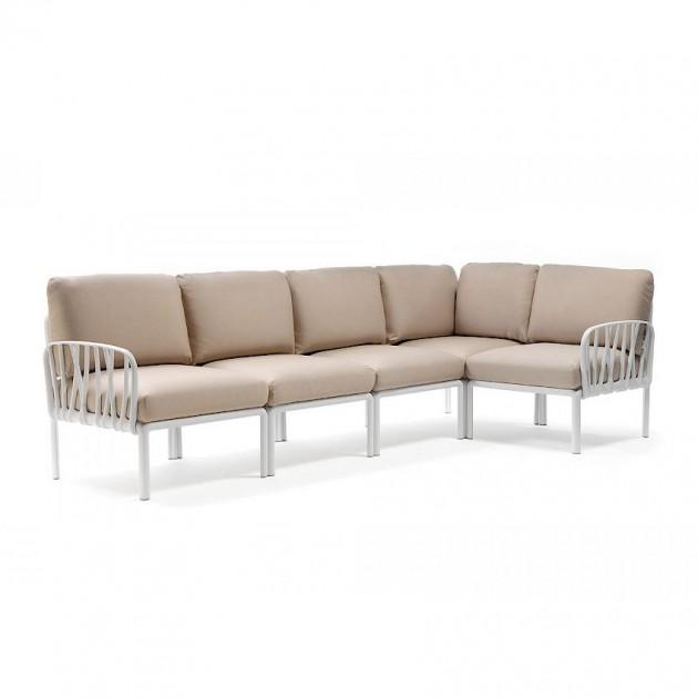 На фото: Модульний диван Komodo 5 Bianco Canvas Sunbrella® (40370.00.141), Модульний диван Komodo 5 Nardi, каталог, ціна