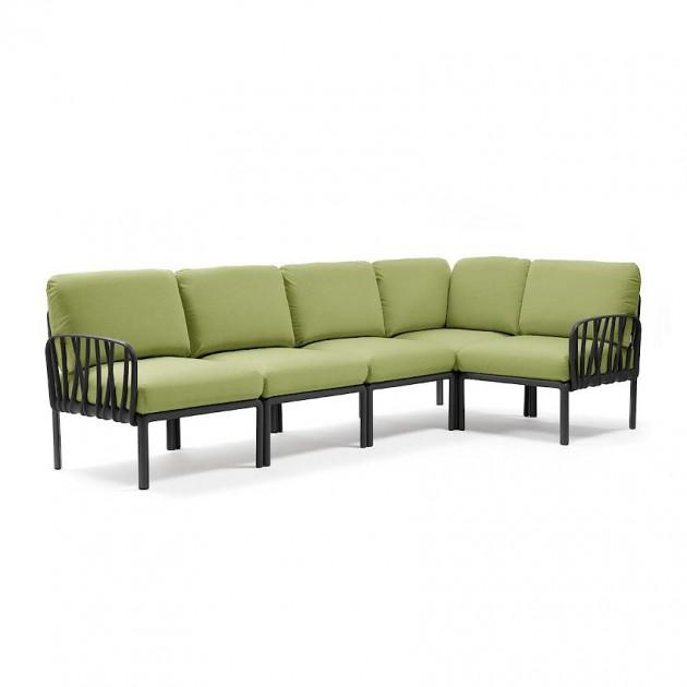 На фото: Модульний диван Komodo 5 Antracite Avocado Sunbrella® (40370.02.139), Модульний диван Komodo 5 Nardi, каталог, ціна