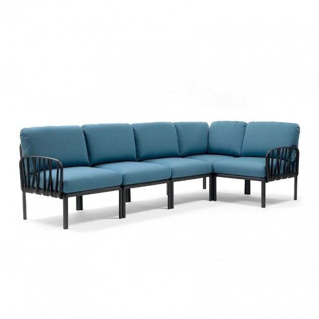 На фото: Модульний диван Komodo 5 Antracite Adriatic Sunbrella® (40370.02.142), Модульний диван Komodo 5 Nardi, каталог, ціна