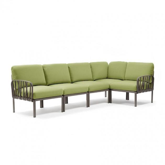 На фото: Модульний диван Komodo 5 Tortora Avocado Sunbrella® (40370.10.139), Модульний диван Komodo 5 Nardi, каталог, ціна
