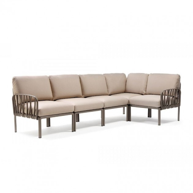 На фото: Модульний диван Komodo 5 Tortora Canvas Sunbrella® (40370.10.141), Модульний диван Komodo 5 Nardi, каталог, ціна
