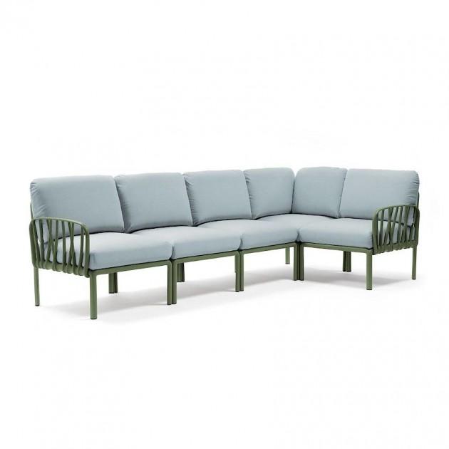 На фото: Модульний диван Komodo 5 Agave Ghiaccio Sunbrella® (40370.16.138), Модульний диван Komodo 5 Nardi, каталог, ціна