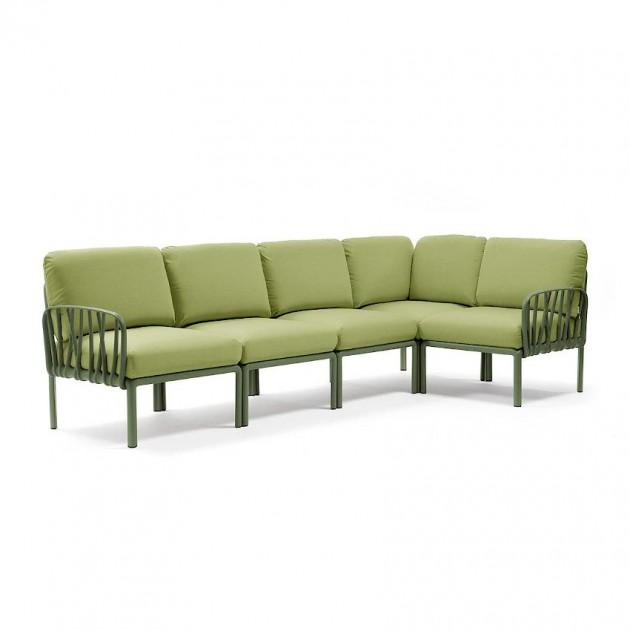 На фото: Модульний диван Komodo 5 Agave Avocado Sunbrella® (40370.16.139), Модульний диван Komodo 5 Nardi, каталог, ціна