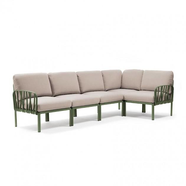 На фото: Модульний диван Komodo 5 Agave Canvas Sunbrella® (40370.16.141), Модульний диван Komodo 5 Nardi, каталог, ціна