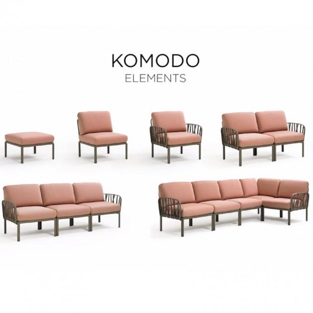 На фото: Модульний диван Komodo 5 Tortora Rosa Quarzo (40370.10.066), Модульні елементи Nardi, каталог, ціна