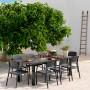 На фото: Розкладний стіл Levante Antracite (47052.02.000), Пластикові столи Nardi, каталог, ціна