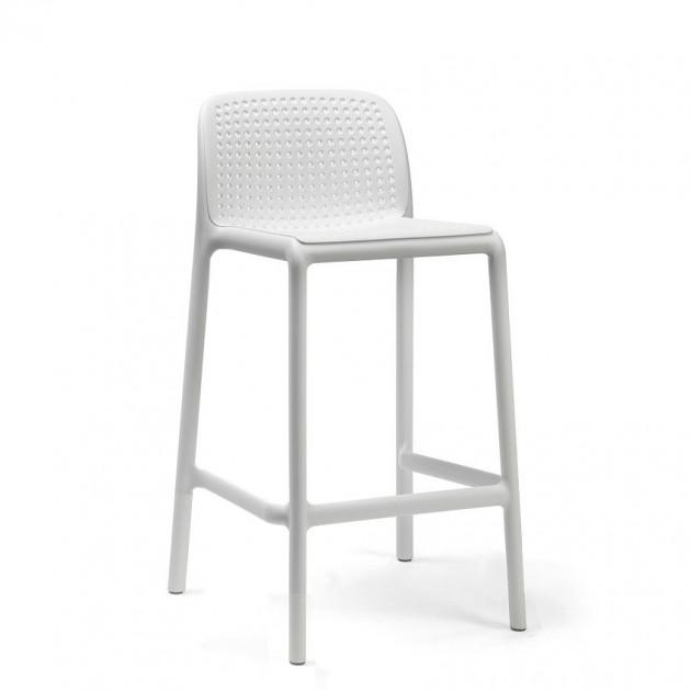 На фото: Напівбарний стілець Lido Mini Bianco (40345.00.000), Барні стільці Nardi, каталог, ціна