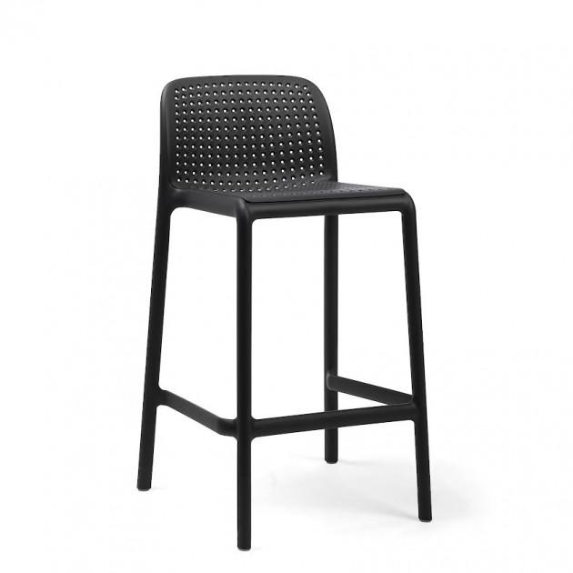 На фото: Напівбарний стілець Lido Mini Antracite (40345.02.000), Барні стільці Nardi, каталог, ціна