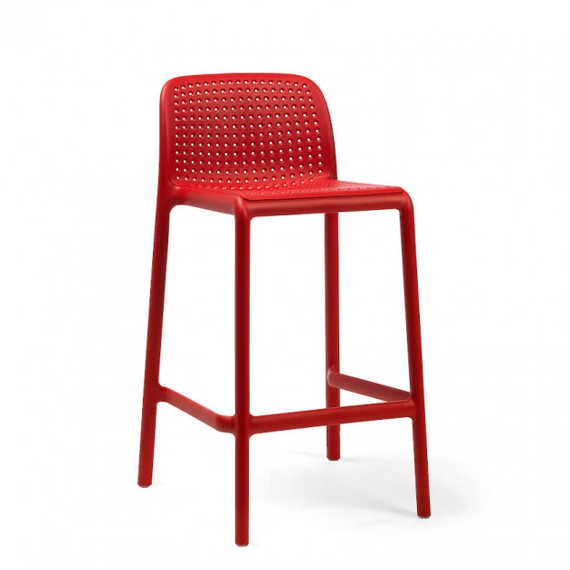 На фото: Напівбарний стілець Lido Mini Rosso (40345.07.000), Барні стільці Nardi, каталог, ціна