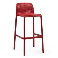 На фото: Барний стілець Lido Rosso (40344.07.000), Барні стільці Nardi, каталог, ціна