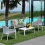 На фото: Столик Net 100 Bianco (40064.00.000), Пластикові столи Nardi, каталог, ціна