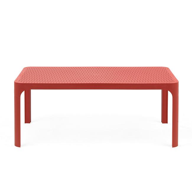 На фото: Столик Net 100 Corallo (40064.75.000), Пластикові столи Nardi, каталог, ціна