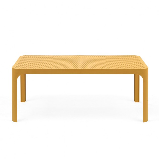 На фото: Столик Net 100 Senape (40064.56.000), Пластикові столи Nardi, каталог, ціна