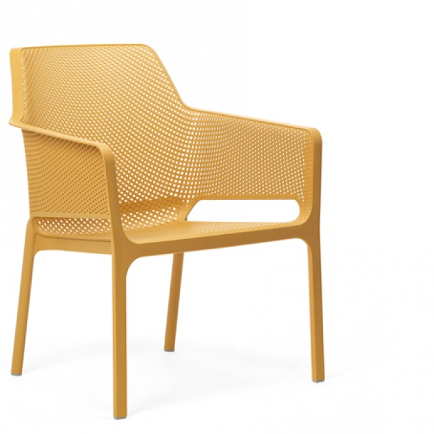 На фото: Крісло Net Relax Senape (40327.56.000), Пластикові крісла Nardi, каталог, ціна