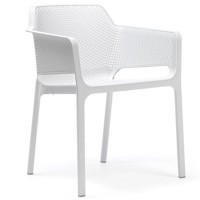 На фото: Стілець Net Bianco (40326.00.000), Пластикові стільці Nardi, каталог, ціна