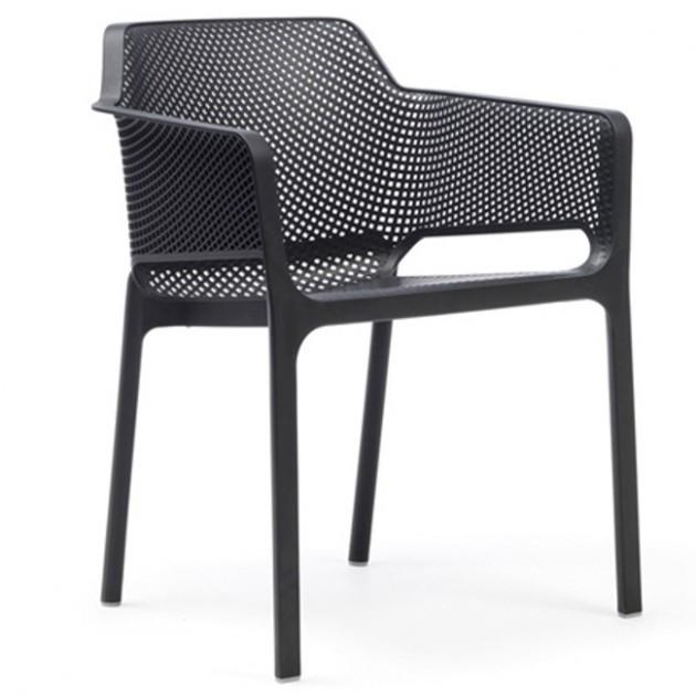 На фото: Стілець Net Antracite (40326.02.000), Пластикові стільці Nardi, каталог, ціна
