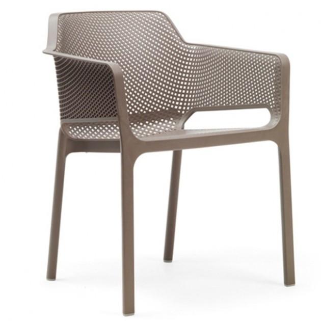 На фото: Стілець Net Tortora (40326.10.000), Пластикові стільці Nardi, каталог, ціна