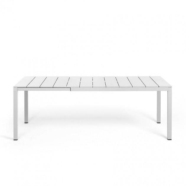 На фото: Обідній стіл Rio Alu 140 Bianco (48653.00.000), Пластикові столи Nardi, каталог, ціна
