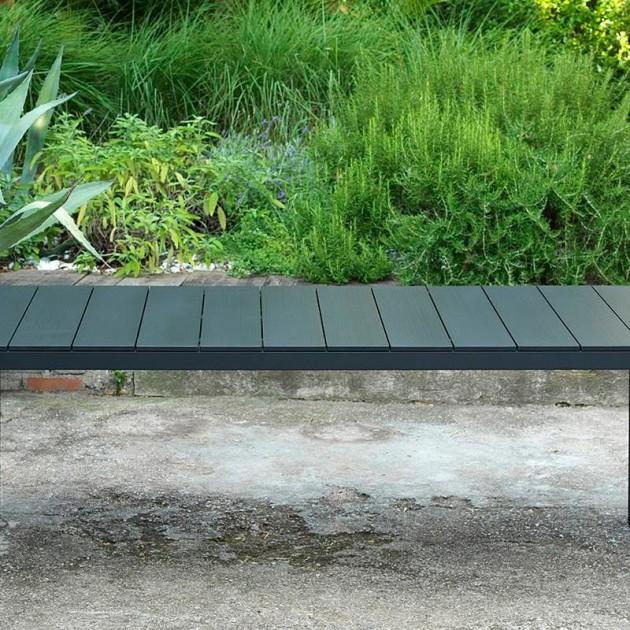 На фото: Обідній стіл Rio Alu 210 Bianco (48853.00.000), Пластикові столи Nardi, каталог, ціна