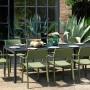 На фото: Обідній стіл Rio Alu 210 Antracite (48852.02.000), Пластикові столи Nardi, каталог, ціна