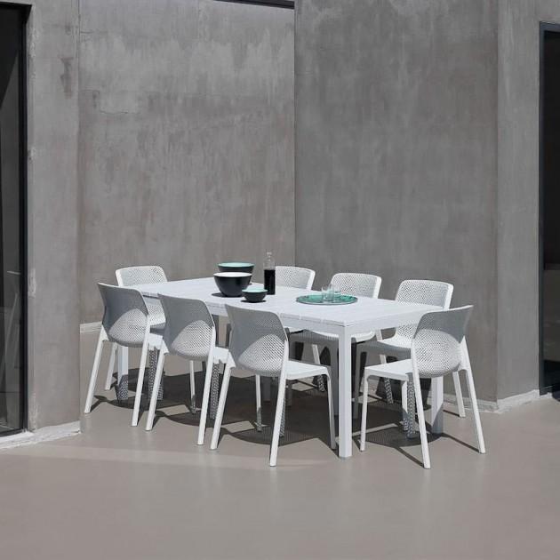 На фото: Розкладний стіл Rio 140 Bianco (48353.00.000), Пластикові столи Nardi, каталог, ціна