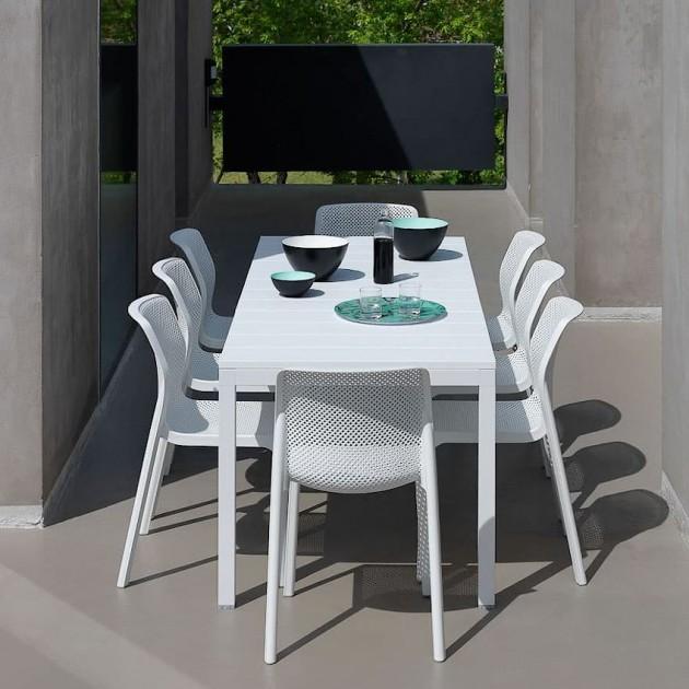 На фото: Розкладний стіл Rio 140 Antracite (48352.02.000), Пластикові столи Nardi, каталог, ціна