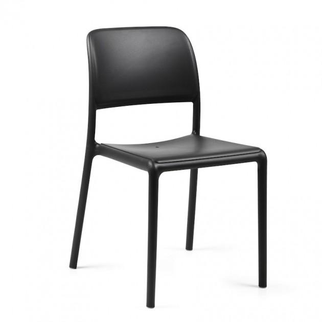 На фото: Стілець Riva Bistrot Antracite (40247.02.000), Пластикові стільці Nardi, каталог, ціна