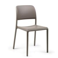 На фото: Стілець Riva Bistrot Tortora (40247.10.000), Пластикові стільці Nardi, каталог, ціна