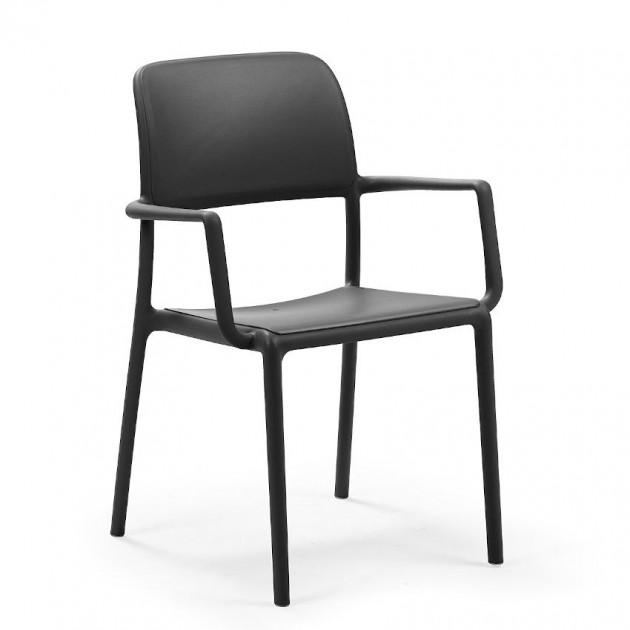 На фото: Стілець Riva Antracite (40246.02.000), Пластикові стільці Nardi, каталог, ціна