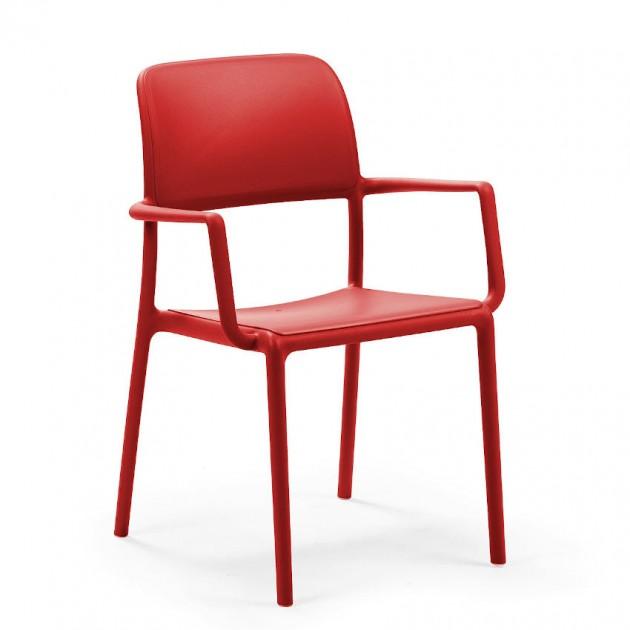 На фото: Стілець Riva Rosso (40246.07.000), Пластикові стільці Nardi, каталог, ціна